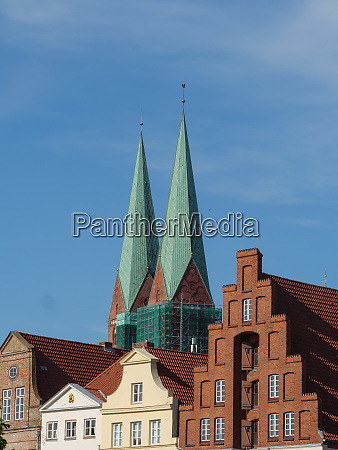 the city of luebeck at the