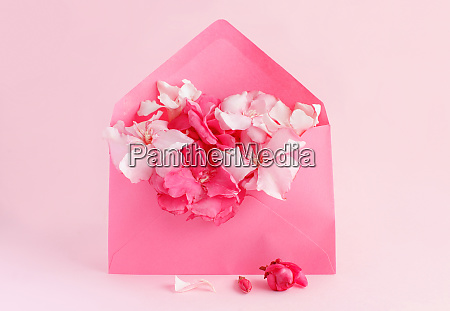 pink envelope full of flowers