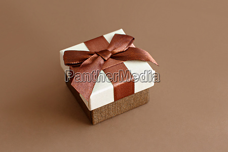 brown tones gift box on a