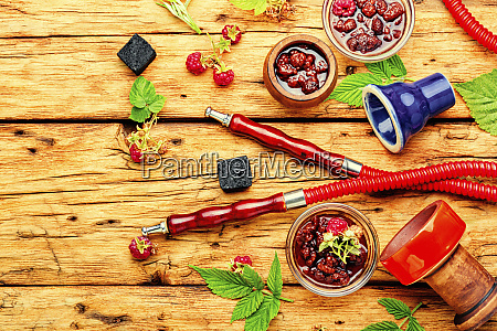 hookah with of raspberry jam