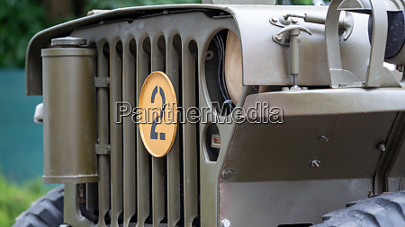 grille part of retro army jeep