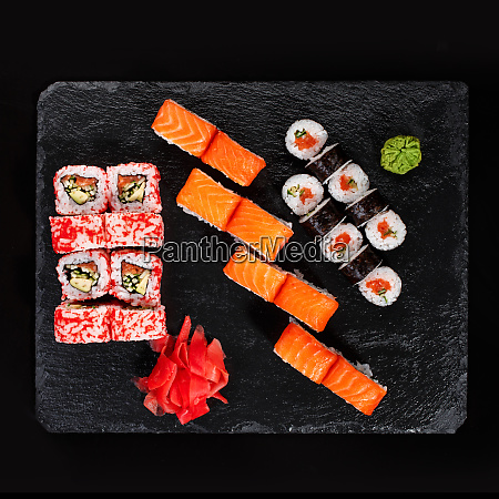 originally put a set of sushi