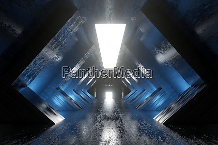 a science fiction tunnel animation