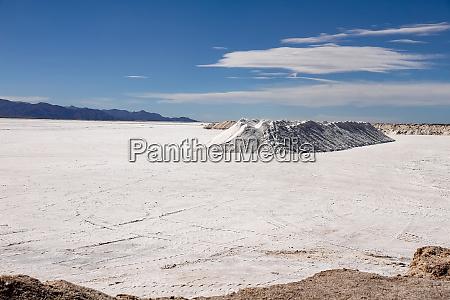 landscape view of salt lake in