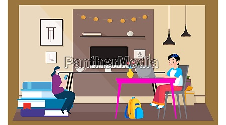 couple is reading news at home