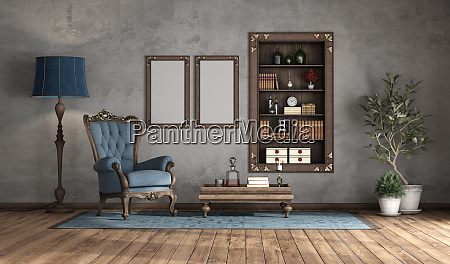 classic style living room withh old