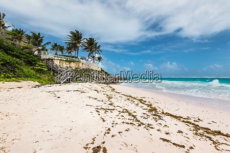 tropical crane beach in barbados island