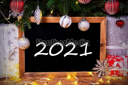 chalkboard christmas tree gift fairy lights