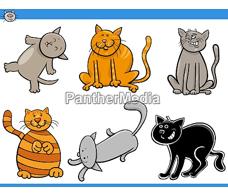cartoon cats and kittens comic characters