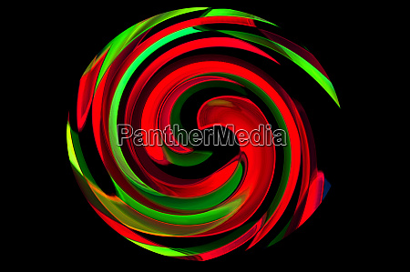 circle with pattern in neon colors