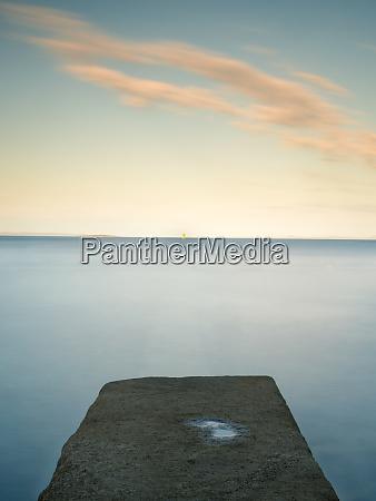 calm scene on adriatic coast in
