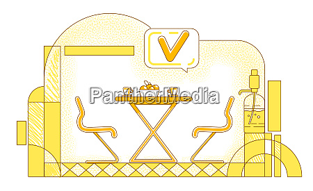 company cafeteria flat silhouette vector illustration