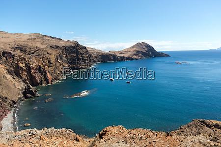 beautiful landscape at the ponta de
