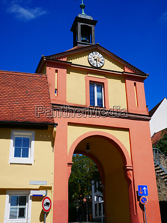 windsbach upper gate cityscape townview town
