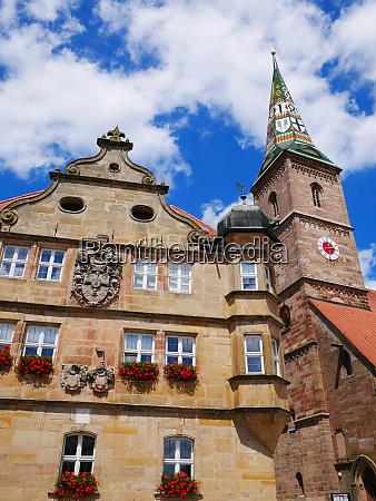 wolframs eschenbach liebfrauenmuenster church deutschordenschloss rathaus
