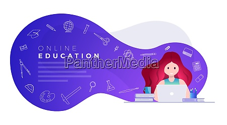 online education and self learning concept