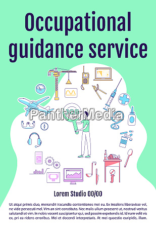 occupational guidance service poster flat silhouette