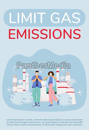 limit gas emission poster flat vector