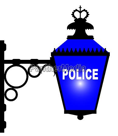 police station blue light