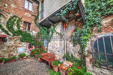 picturesque corner in tuscany