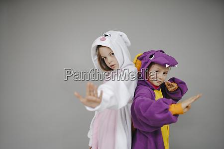 two beautiful girls dressed as rabbit