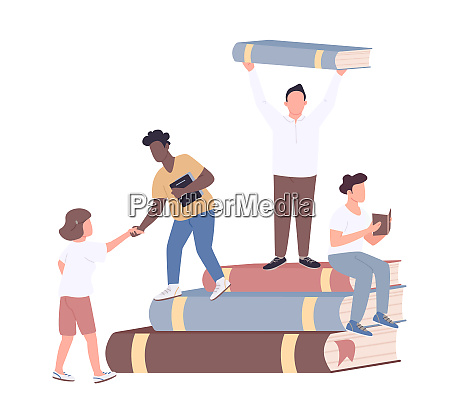 inclusive college community flat concept vector