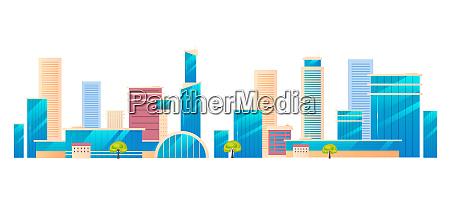modern city metropolis cartoon vector illustration