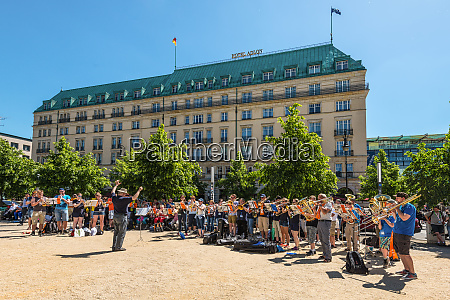 brass band orchestra on the street