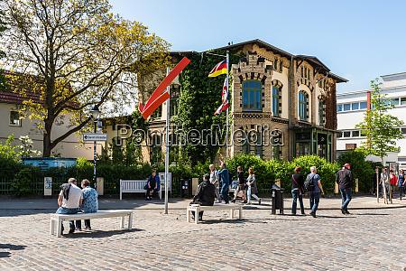 street life of the hanseatic city