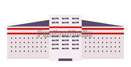 building exterior cartoon vector illustration