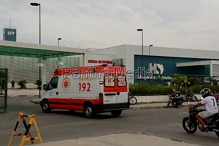 samu ambulance at suburb hospital