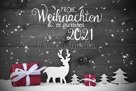 reindeer gift tree snowflakes glueckliches 2021