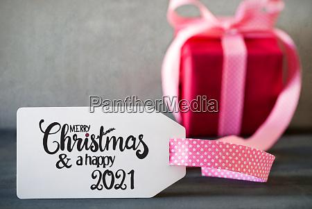 pink christmas gift calligraphy merry christmas