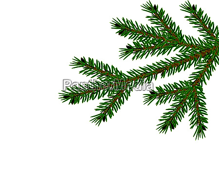 christmas new year realistic christmas tree