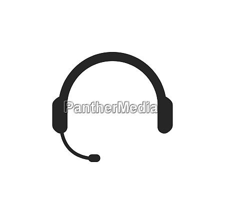 earphone logo icon vector illustration