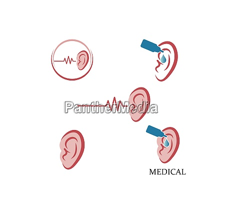 ear logo icon vector design illustration