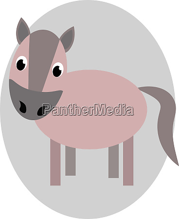 drawing of a brown horse