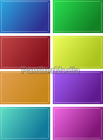 multicolored tags with gradient