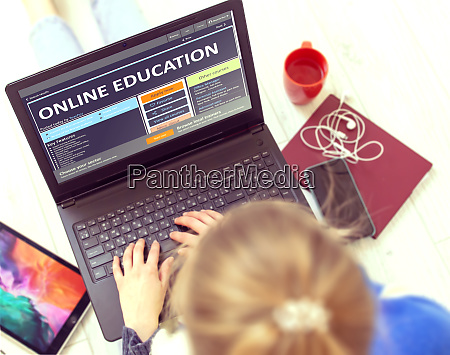 post secondary learning concept online education