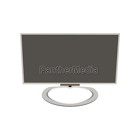 lcd tv monitor vector illustration