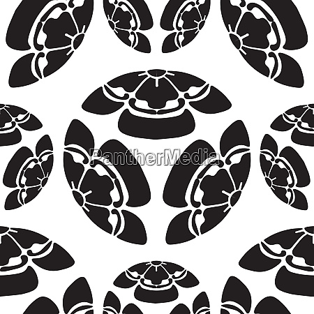 seamless flowers melon survival symbol in