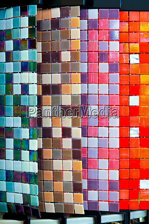 colorful tile samples