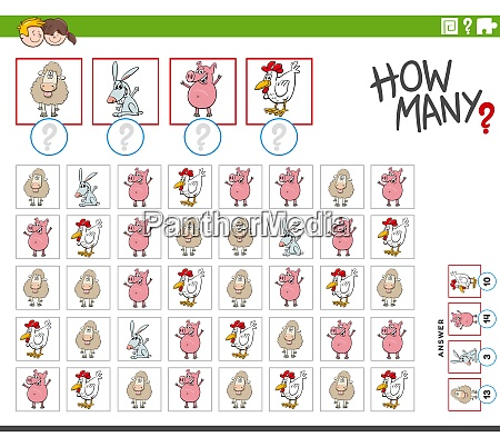 how many farm animal characters counting