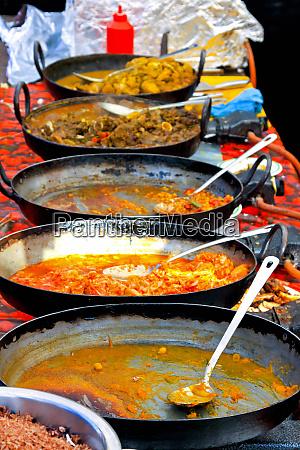 fast food market stall