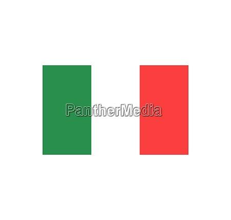 italia flag icon vector