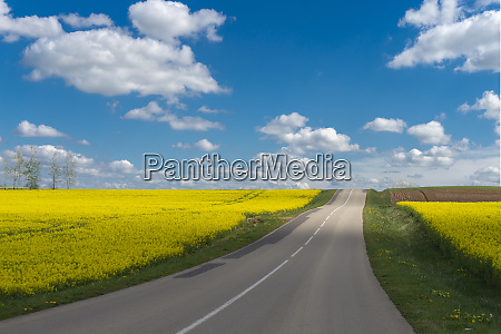 road through picturesque countryside landscape