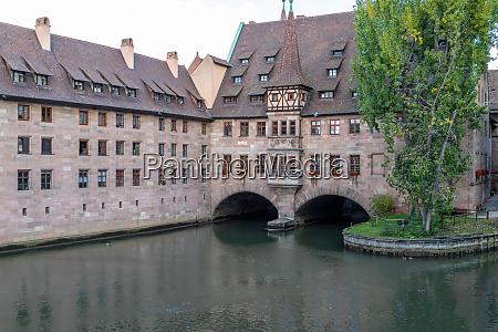 pegnitz river in nuremberg bavaria germany
