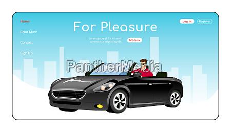 for pleasure landing page flat color