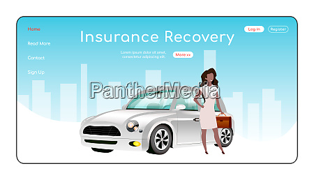 insurance recovery landing page flat color