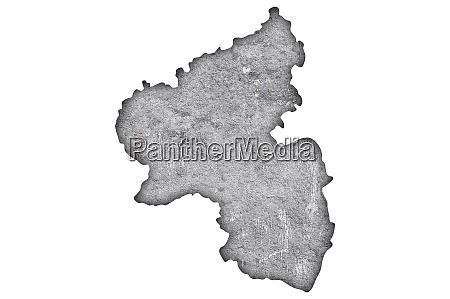 map of rhineland palatinate on weathered